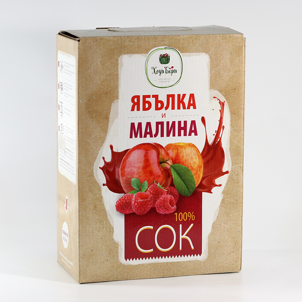 Apple and raspberry juice - 3 liters